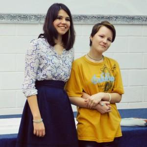 Варвара и Ирма перед крещением