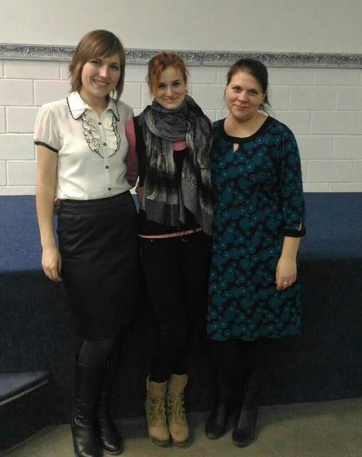 Теперь сестры: Лена, Катя и Аня